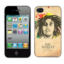 Bob Marley case fits Iphone 4 & 4s cover hard protective (2) i phone mobile