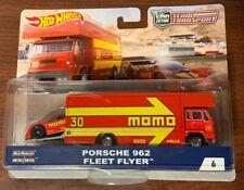 HOT WHEELS Team Transporter 50th Porsche 962 Fleet Flyer Hauler Momo