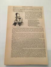 K30) Pocahontas & Captain John Smith Early Virginia History 1860 Engraving