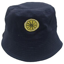 The Stone Roses 'Reni' Lemon Embroidered Bucket Hat - Bands Tribute Anniversary