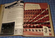 1945 Jan - Dec  Progressive Architecture - Pencil Points 12 Issues Bound  Vol 26