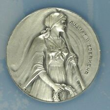 Swiss Silver Shooting Medal Ticino R-1523a A.Wiederkehr NGC MS65 Woman Rare