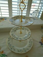 VINTAGE DUCHESS TRANQUILITY  3 TIERED TEASET CAKESTAND PERFECT FOR A WEDDING
