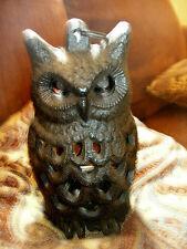 New listing Cast Iron- Owl Lantern Rustic Brown Garden & Patio Decor