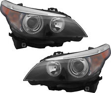 BMW 5 SERIES 2004-2007 HID XENON HEADLIGHTS HEAD LIGHTS FRONT LAMPS - PAIR