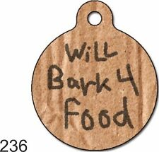 Cute Custom Personalized Pet ID tag for Dog and Cat CollarS unique ROUND FUNNY