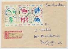 DDR Nr. 1039-1044 Sechserblock Olympiade 1964 auf EINSCHREIBEN Brief (27288)
