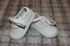 Baby Infant Toddler Girls Keds size 4 white EUC leather lace shoes