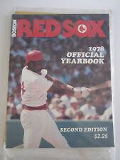 (10) BOSTON RED SOCKS BASEBALL YEARBOOK MAGAZINES - '70'S TO '80'S - BOX BPR 1