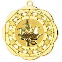 """Karnevalsorden 50mm gold """"Venedig"""" inkl.Relief-Emblem & Band 1,99 EUR/Stück"""