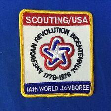 Boy Scout 14th World Jamboree U.S. Contingent Patch 1976 USA Bicentennial