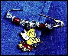 Valentine Cherub Charm Pin Bead Jewelry Kit ABCraft