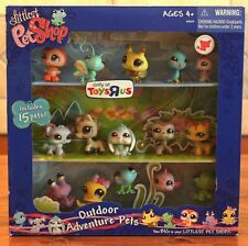 Littlest Pet Shop Toys R Us Exclusive Outdoor Adventure Pets Cat #1137 Dog RARE