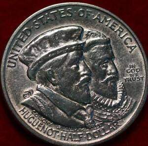 Uncirculated 1924 Huguenot-Walloon Silver Half Dollar