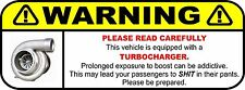 NOVELTY FUNNY WARNING LABEL DECAL STICKER TURBO FORD HOLDEN 13CM X 5CM