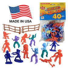TootsieToy COWBOYS & INDIANS: 40 Western Figures Joy Toy Lido Processed Plastic