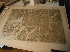 Carte plan Guerres Places et positions des opération du sud est grenoble Thabor
