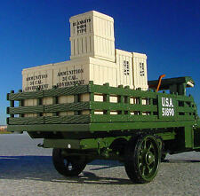 SALE PRICE / MACK U S ARMY STAKE TRUCK Loaded with GUNS and AMMO  - First Gear