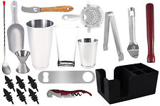 20 piece Professional Bartender Kit, Bartending Tools, Cocktail Shaker Set