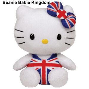 "TY BEANIE * HELLO KITTY UNION JACK  * UK EXCLUSIVE 6""- NEW"
