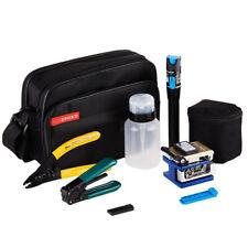 9 in 1 Fiber Optic FTTH Tool Kit With Fc-6s Fiber Cleaver and Power Meter UK J7