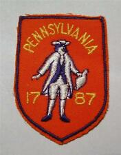 NEW VINTAGE 1970's PENNSYVANIA SOUVENIR IRON-ON/SEW-ON FABRIC APPLIQUE PATCH