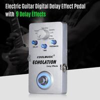 COOLMUSIC A-DE01 Electric Guitar Digital Delay Effect Pedal True Bypass Gift