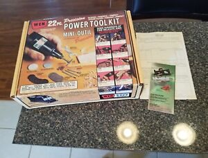 Vintage wen 22 piece  power tool kit NEW OLD STOCK