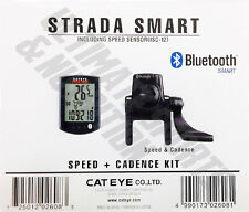 Cateye Strada Smart Speed & Cadence CC-RD500B Wireless Bicycle Computer Black