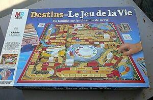 """""""DESTINS-LE JEU DE LA VIE/MB/EN FAMILLE SUR LES CHEMINS DE LA VIE/86/JEU SOCIETÉ"""