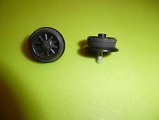 Lego Eisenbahn: 2 alte schwarze Speichenräder für Loks