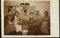 GERMAN SOLDIERS & CIVILIANS FAMILY WW1 DAILY LIFE ANTIQUE RPPC PHOTO POSTCARD