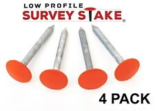 Low Profile Survey Marker - 4 pack - Orange Color