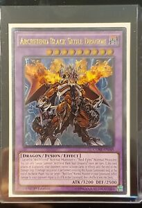 Yu-Gi-Oh! Archfiend Black Skull Dragon CORE-EN048 Ultimate Rare 1st Edition NM