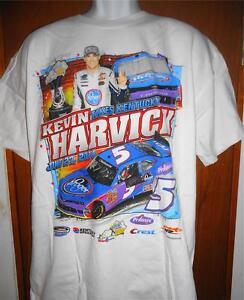 "Kevin Harvick Motorsports Authentics ""NASCAR Men's Nation Shirt White Sz.L"