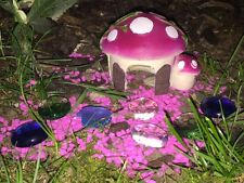 Pink Mushroom House with Pink Gravel & Beads Fairy Garden Kit Accessories