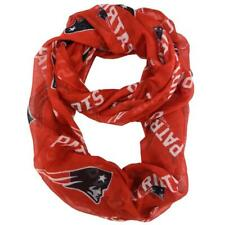 New England Patriots Infinity Scarf Red [NEW] NFL Fashion Women Sheer Neck