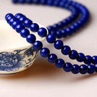 """Natural Lapis lazuli Gemstone Round Spacer Loose Beads 4/6/8/10/12/14mm 15"""""""