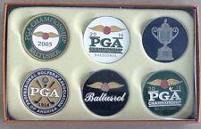 Pga golf ball marker set of 6 baltusrol 2016 pga championship new