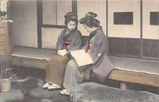 POSTCARD    JAPAN    GESHIA  GIRLS  Studying