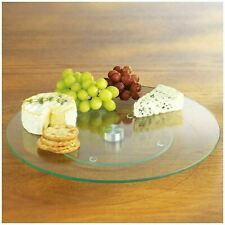 Tempered Glass Lazy Susan Rotating Turntable Serving Tray Cake Decorating Plate