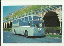 bus / coach /tram EX BRITISH EUROPEAN AIRWAYS  1953 built AEC Regal IV postcard