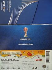 TICKET Guide Media Platz 3 Confed Cup 2.7.2017 Portugal - Mexico # Match 15