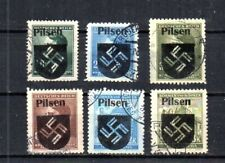 WWII PILSEN, BOHEMIA & MORAVIA, CZECHOSLOVAKIA.  6 DIFFERENT.