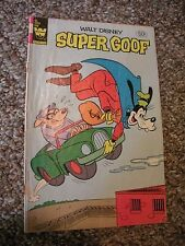 Super Goof Walt Disney #65 by Whitman Goofy Comic book 1982 Combined Shipping