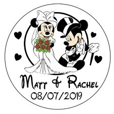 MICKEY AND MINNIE DISNEY WEDDING FAVORS ROUND STICKERS LABELS FOR YOUR FAVORS