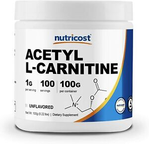 Nutricost Acetyl L-Carnitine (ALCAR) 100 GMS - 1000mg Per Serving - High...