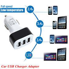 Hot Car Universal 12V 24V To 5V 3Port USB Charger Adapter For Smart phone GPS