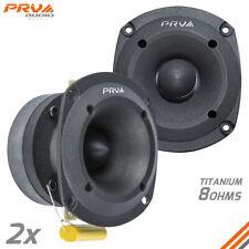 """2x PRV Audio TW350Ti Bullet 3"""" Pro Super Tweeter 8 Ohm Titanium Car Audio 240W"""