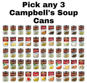 Campbell's Soup Cans Pick any 3 Cans Mix & Match Flavors